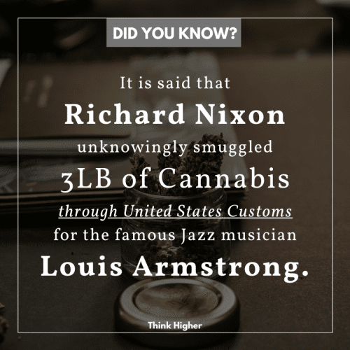 How Richard Nixon smuggled 3lbs of Cannabis for Louis Armstrong